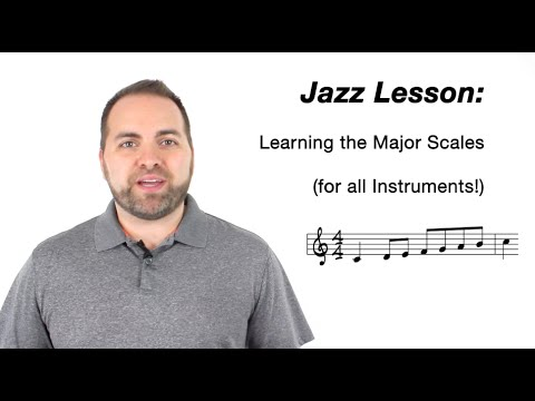 JAZZ for all instruments!  Major Scale Workout