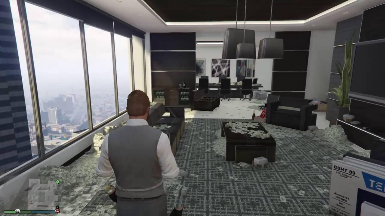 Oficina vip llena de dinero gta v online youtube for Galp oficina online