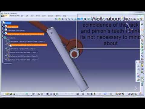 Catia V5 Tutorial Rack Pinion Joint