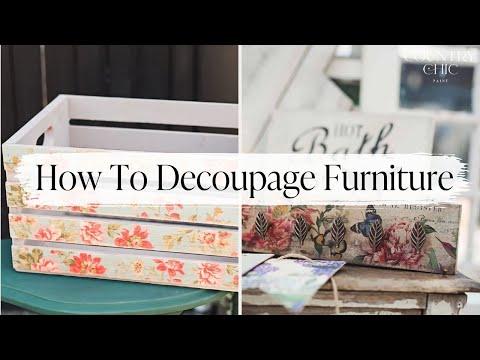 Awesome How To Decoupage Furniture U0026 Home Decor With Image Transfer Medium |  Decoupage Tutorial