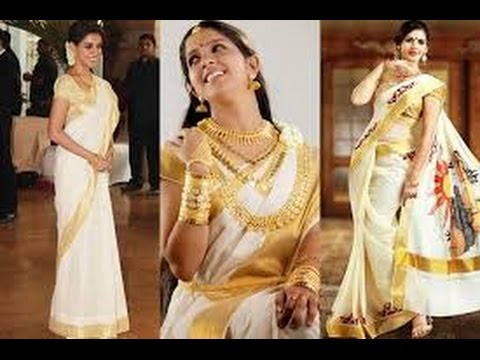 Kerala Kasavu Saree Latest Designs