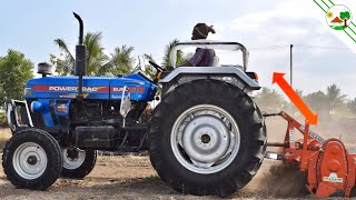 New Tractor   Powertrac EURO 50 HP with Rotavator   Come To Village