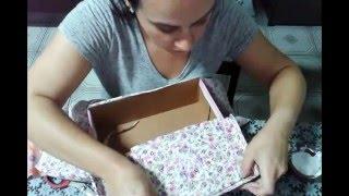 forrando caixa de sapato modelo 1