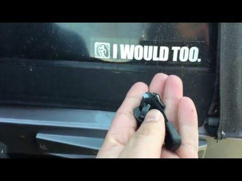 Jeep Wrangler Softop Zipper Repair Youtube