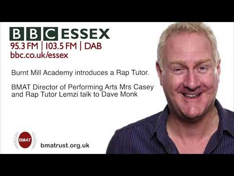 BMAT Director of Performing Arts discusses Rap music lessons on BBC Essex