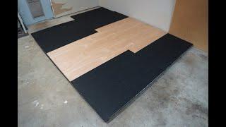 Barbell weight lifting platform for power rack DIY build