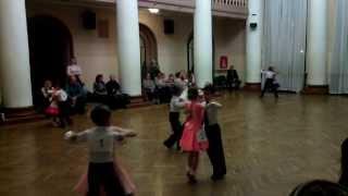 Бальные танцы 2 год обучения 14.11.2013 открытый урок медленный вальс