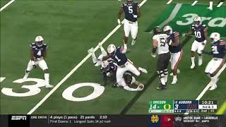 Oregon OL vs. Auburn 2019