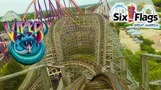 2019 Viper Roller Coaster Front Seat On Ride HD POV Six Flags Great America