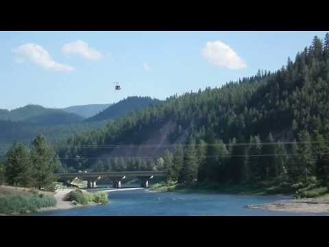 Raw video Forest fire at Superior Montana, 07-17-2013
