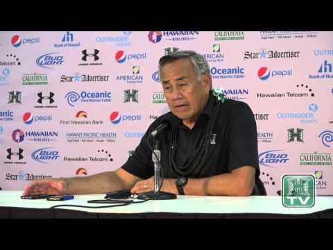 Hawaii Football Post-Game Press Conference Norm Chow vs. UC Davis 9-19-15