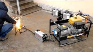 видео Бензиновый генератор Energo EB 7.0/400-S