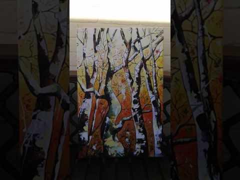 "Art film, pop art documentary,acrylic paints ""The Whimsical Wood and Magic"" www.andrewalanart.com"