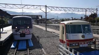 西武秩父駅に到着する10000系ニューレッドアロー「カナヘイ」