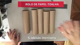 5 IDEIAS PRÁTICAS COM ROLO DE PAPEL TOALHA