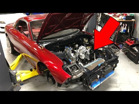 INSTALLING THE 13B INTO THE FD RX-7!!!! (NOT CLICKBAIT!)