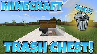 Minecraft 1.16 EASY AЏTO TRASH CHEST! [Bedrock, Java, Windows 10, Ps4, Xbox, Switch, PE]