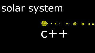 How To Draw a Solar System in C++ OpenGL MinGW Simple Code