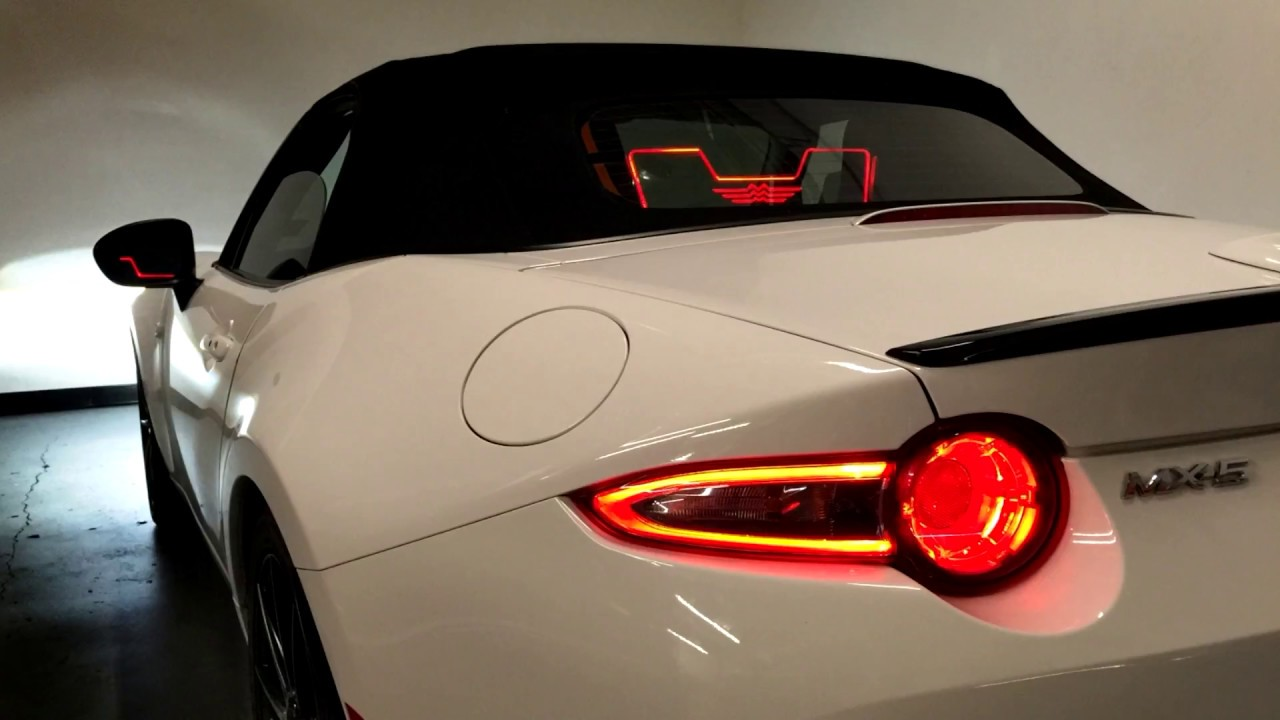 New Mazda Miata >> New Wind Deflector Mazda Miata ND - RF & Fiat 124 Spider Engraved Graphics + Ambient Lighting ...