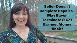 Seller Doesn't Do Repairs... May Buyer Terminate???