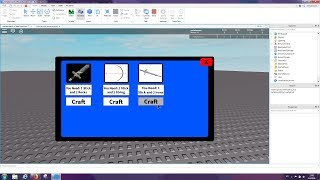 Roblox: How to make Crafting Gui ( ReUpload)