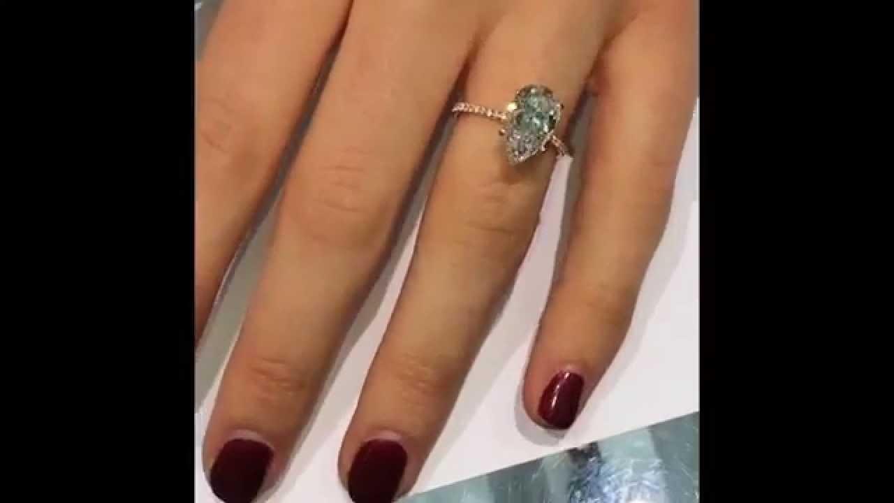 Pear Diamond 2 Ring Shaped Hand Carat