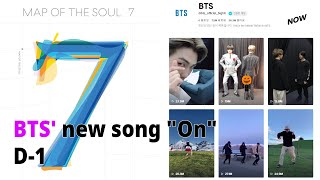 """[D-1] BTS to unveil preview for its new song """"On"""" from """"Map of the Soul:7"""" on TikTok"""