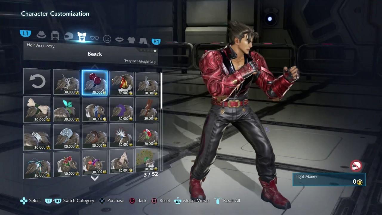 Tekken 7 Jin Full Character Customization All Costumes Items
