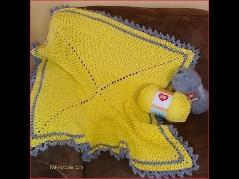 Crochet Tutorial: Love and Sunshine Baby Blanket