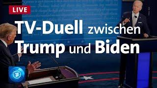 Trump - Biden: Letztes TV-Duell vor US-Präsidentschaftswahl 2020
