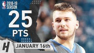 Luka Doncic Full Highlights Mavericks vs Spurs 2019.01.16 - 25 Pts, 8 Ast, 8 Rebounds!