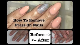 How To Remove Press On Nails Without damage | Glue On Nails | Full Tips | DIY | Beanana711