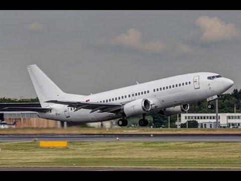 Aviolet Boeing 737-300 takeoff to Podgorica Montenegro - Belgrade Airport