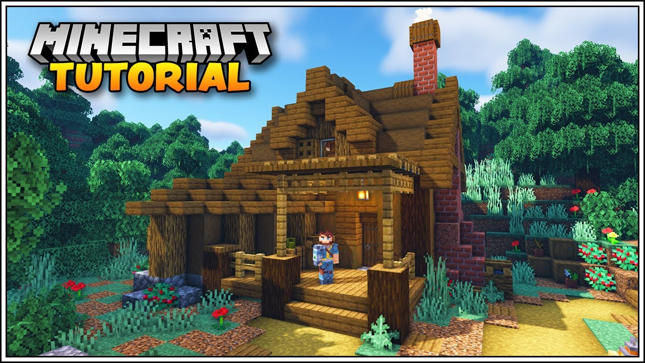 Minecraft Tutorial - How to Build a Starter House in Minecraft