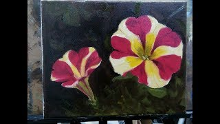 Queen of Hearts Petunia - Oily (Floral Painting)