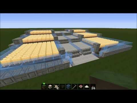 Minecraft Automatic Wheat Farm Tutorial! Modern Industrial Look!