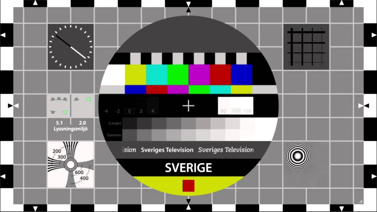 TEST CARD HD SWEDEN 16 9