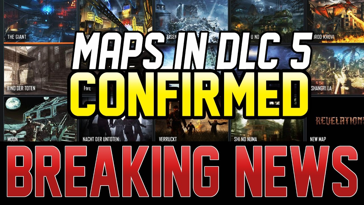 THE 8 REMASTERED ZOMBIES MAPS IN DLC 5 CONFIRMED ! (Black Ops 3 ...