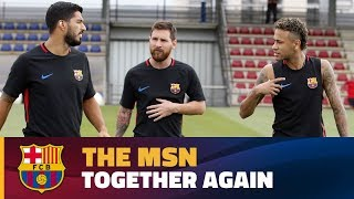First training session 2017-18 with the MSN