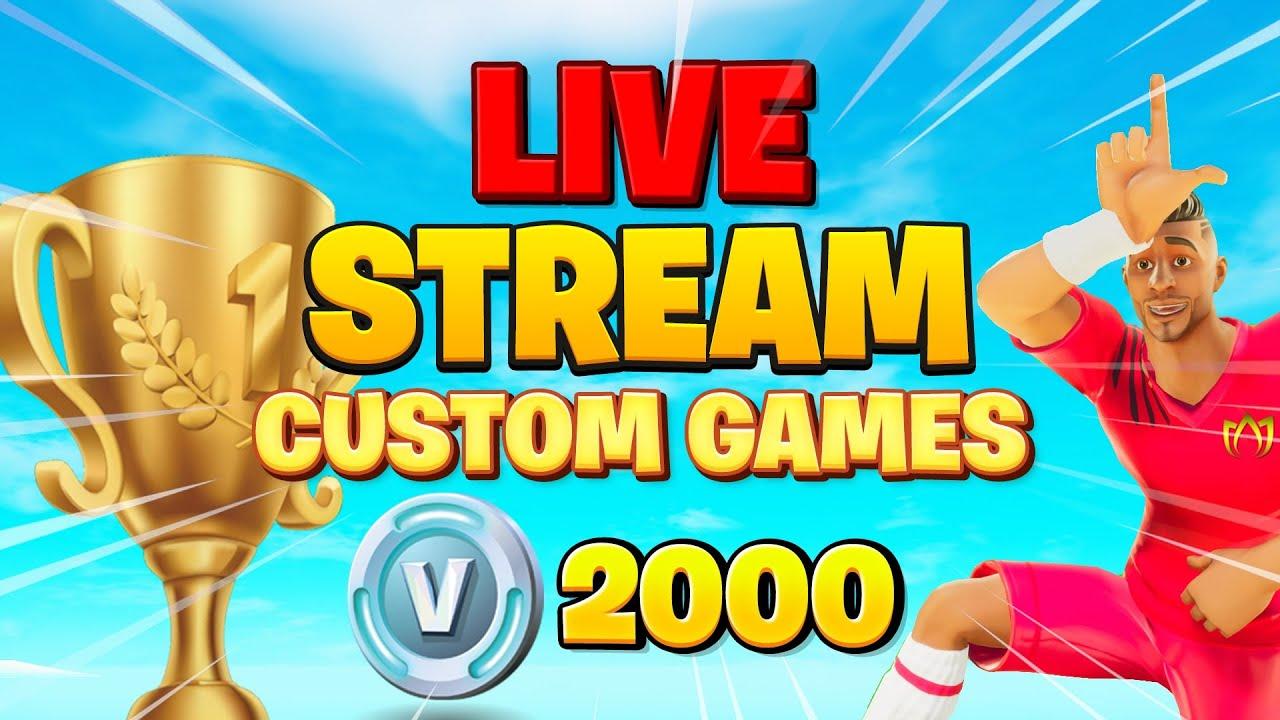 Download 🔴 DUO CUSTOM GAMES mit Preisgeld! 🔴Gewinne die Verlosung | Fortnite Live Deutsch