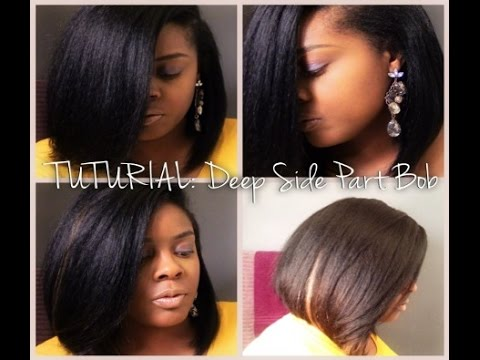 TUTORIAL | Deep Side Part Bob (Sew-In) | Outre Velvet Perm Yaki - YouTube