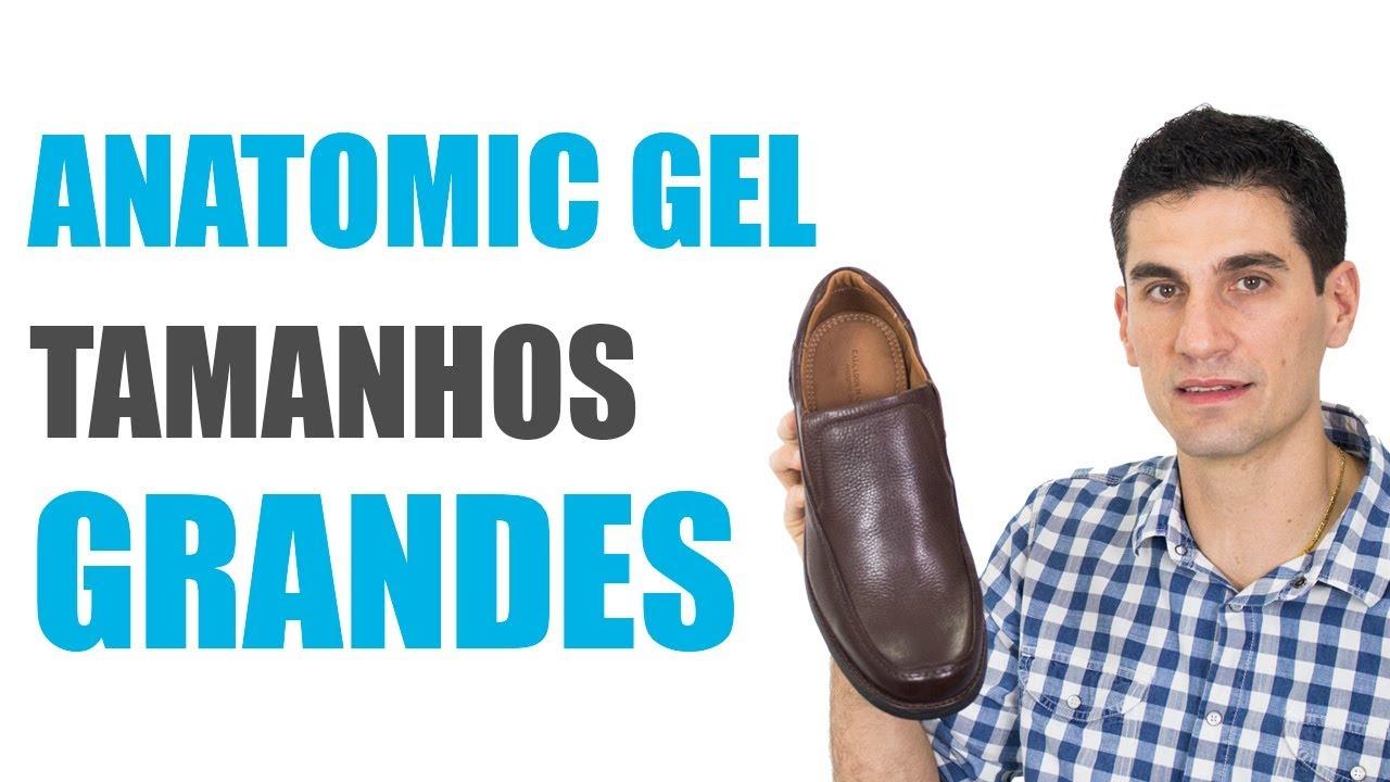 1c1f4dc3f Sapato Anatomic Gel 4512 - Tamanhos Grandes - YouTube