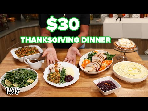 Can This Private Chef Make A Thanksgiving Meal For 6 For $30 • Tasty