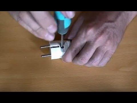 Poner una clavija o enchufe con toma de tierra en un cable
