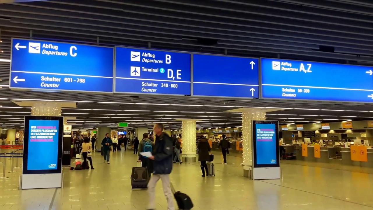 Ankunftsplan Frankfurt Flughafen