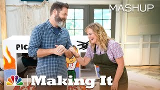 We thread together a montage of every Nick Offerman giggle from Making It Season 1. Every. Single. Giggle. » Subscribe for More: http://bit.ly/NBCMakingIt ...