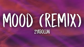 Download 24kGoldn, Justin Bieber, J Balvin, iann dior - Mood (Remix) Lyrics | why you always in a mood