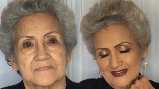 Doing my 78 year old Grandma Makeup - Elderly Makeup -