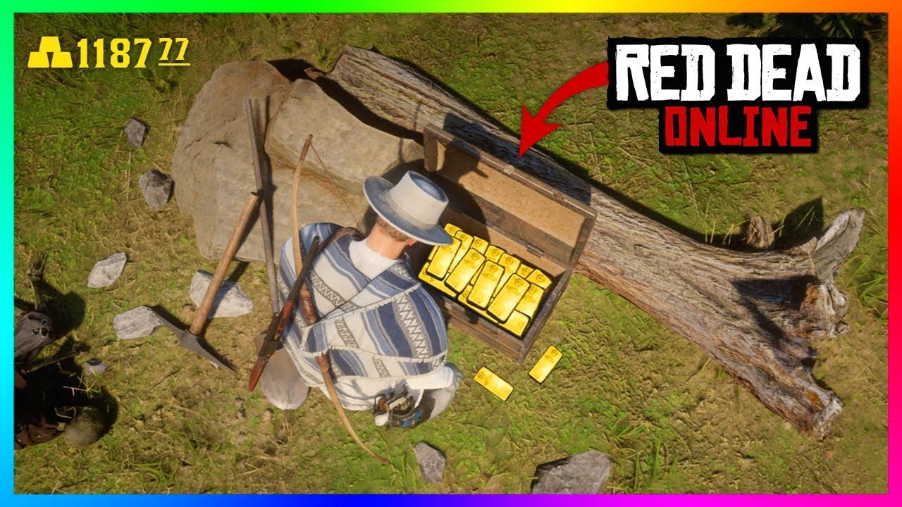 how to get gold bars red dead online