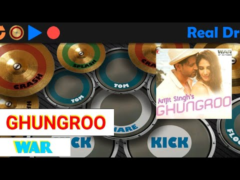 GHUNGROO | War | Arijit Singh and Shilpa Rao | REAL DRUM COVER BY ABHISHEK JOSHI